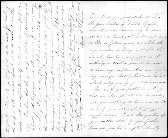Letter from Maria L. Crozier to Alexander Graham Bell, March 14