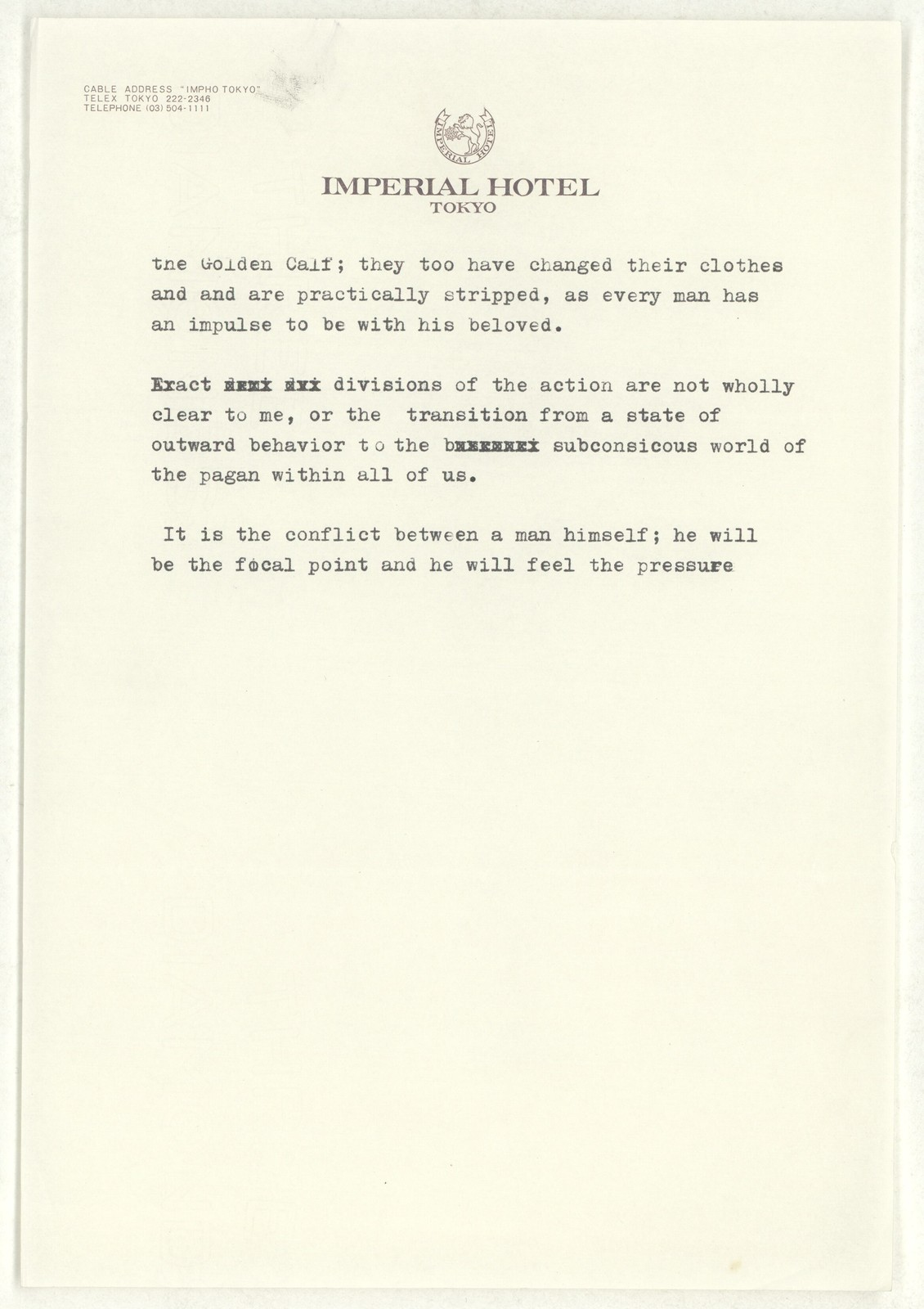 [ Letter from Martha Graham to Aaron Copland, n.d.]