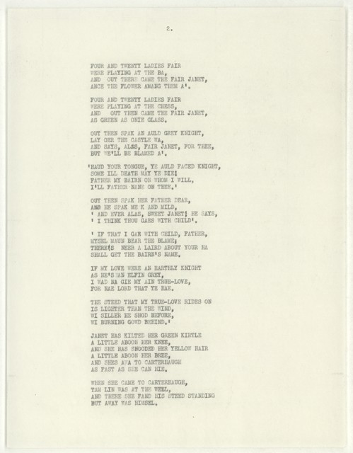 [ Letter from Martha Graham to William Schuman, August 12, 1946, with draft script of Tam Lin]