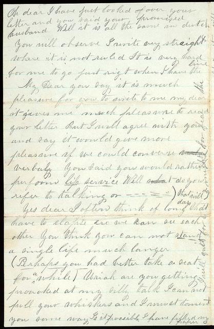 Letter from Mattie V. Thomas to Uriah W. Oblinger, May 10-11, 1868