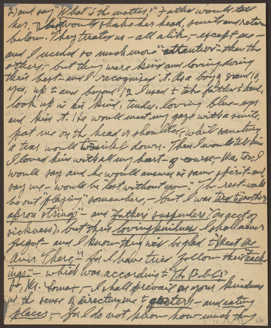 Letter from Pearl R. Nye to Mr. Lomax