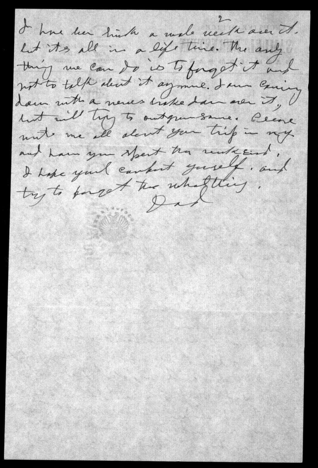 Letter from Shirley Bernstein to Sam Bernstein, n.d.