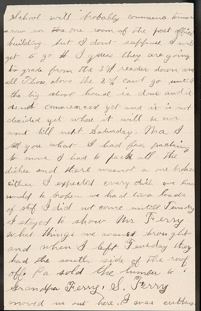 Letter from Stella Oblinger to Laura I. Oblinger, Sadie Oblinger, and Nettie Oblinger, September 9-11, 1887