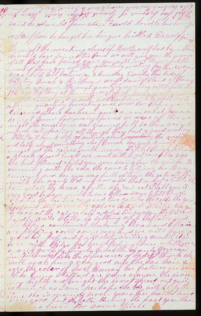 Letter from Uriah W. Oblinger and Mattie V. Oblinger to Thomas Family, February 27-28, 1876