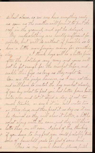 Letter from Uriah W. Oblinger to Laura I. Oblinger, 1894