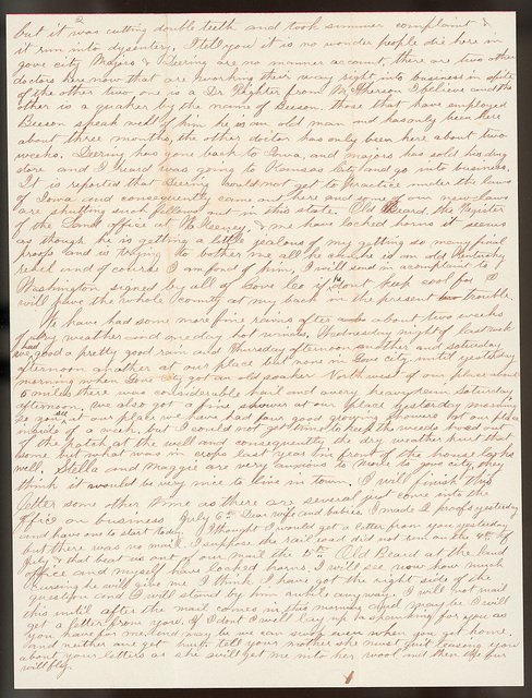 Letter from Uriah W. Oblinger to Laura I. Oblinger, Nettie Oblinger, and Sadie Oblinger, July 5-7, 1887