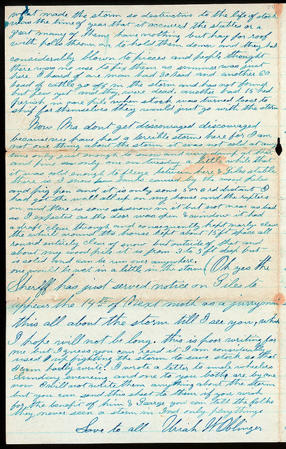 Letter from Uriah W. Oblinger to Mattie V. Oblinger and Ella Oblinger, April 13-18, 1873