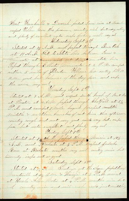 Letter from Uriah W. Oblinger to Mattie V. Thomas, October 1-2, 1866