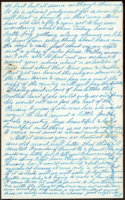 Letter from Uriah W. Oblinger to Thomas Family, W. P. Thomas, 1873