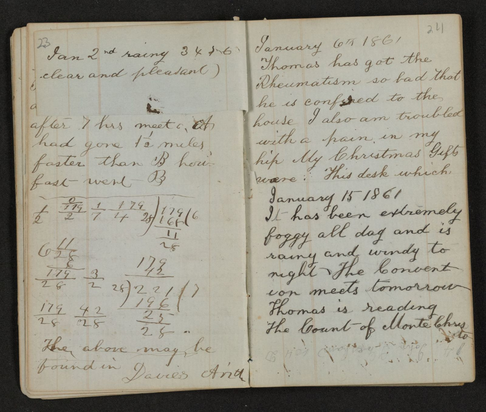 Lewis H. Machen Family Papers: Diaries and Diary Transcriptions, 1860-1865;