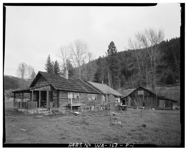 Liberty Historic District, Livery Stable & Barker Cabin, Route 2, Cle Elum, Liberty, Kittitas County, WA
