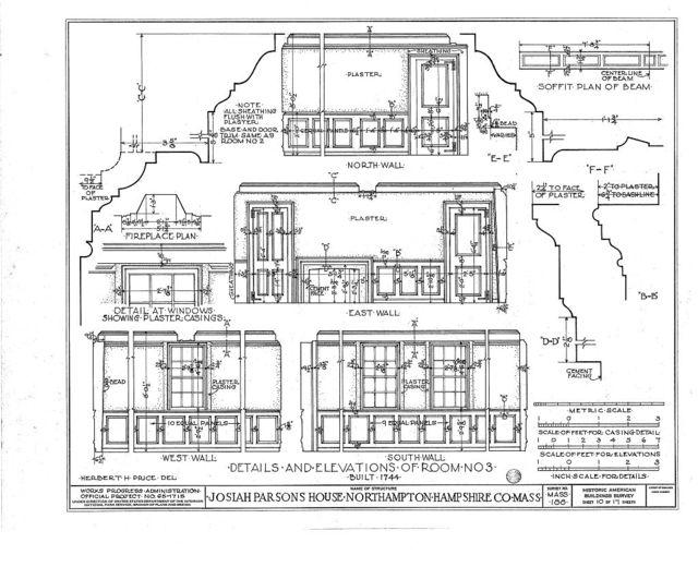 Lieutenant William Parsons House, 392 Bridge Street (moved to Darien, CT), Northampton, Hampshire County, MA