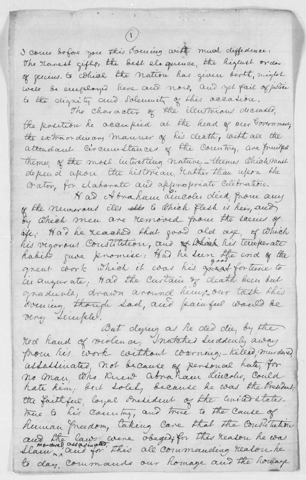 [Lincoln, Abraham] - Folder 3 of 3