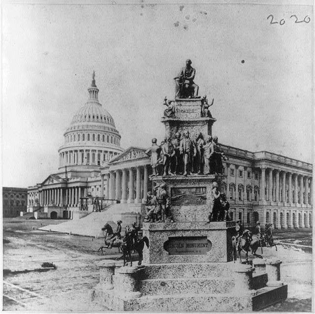 """""""Lincoln Monument, Wash., D.C., designed and executed by Clark Mills"""""""
