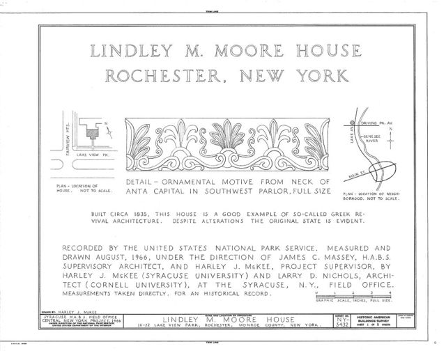 Lindley M. Moore House, 22 Lake View Park, Rochester, Monroe County, NY