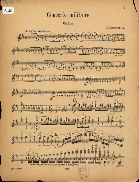 Lipiński, Karol Józef. Concerto militaire