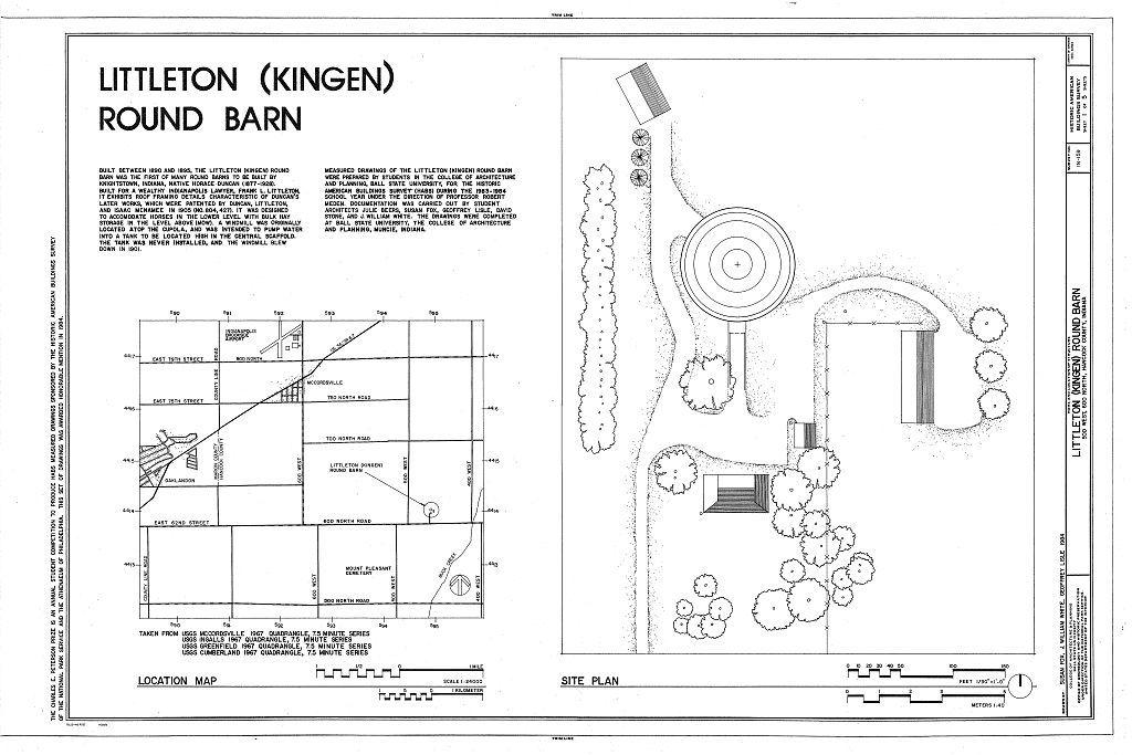 Littleton Round Barn, 500 West, 600 North Road, McCordsville, Hancock County, IN