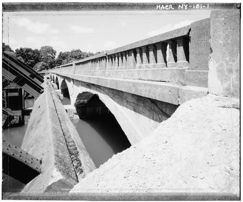 Locust Street Bridge, Locust Street, spanning old channel of Seneca River, Waterloo, Seneca County, NY