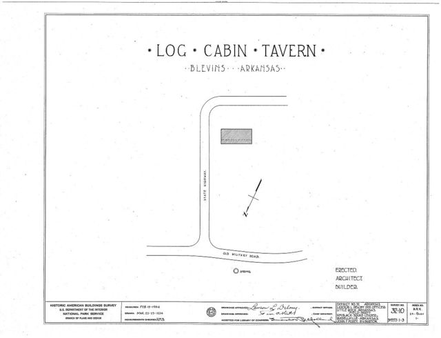 Log Cabin Tavern, State Highway, Blevins, Hempstead County, AR