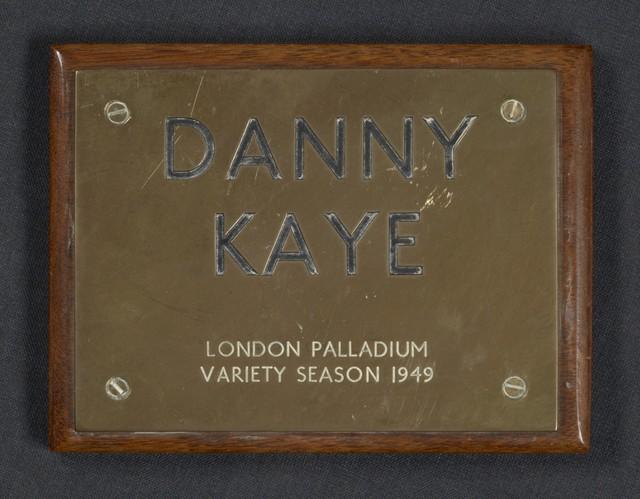 [ London Palladium Plaque for Danny Kaye, 1949]