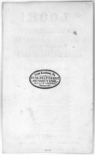 Look! A book that sells faster than printers and binders can produce it. Just published, The great novel, All on account of Eliza! price 50 cts. paper, and $1.00 cloth. The sensation of the day! The new novel, All on account of Eliza! [ a