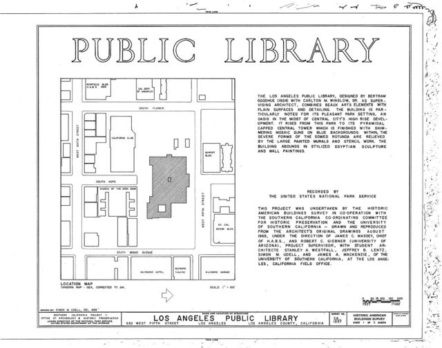 Los Angeles Public Library, 630 West Fifth Street, Los Angeles, Los Angeles County, CA