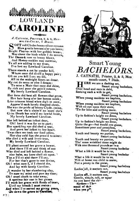 Lowland Caroline. J. Catnach, Printer, 2 & 3, Monmouth-court, 7 Dials