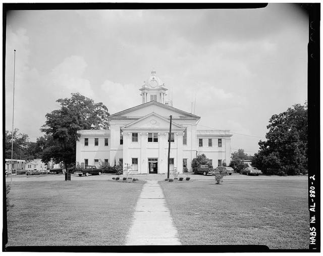 Lowndes County Courthouse, Washington Street at Town Square, Hayneville, Lowndes County, AL