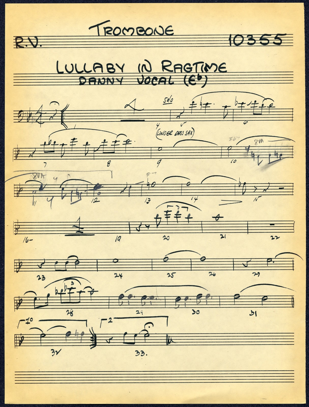 Lullaby in Ragtime - D. Kaye Vocal
