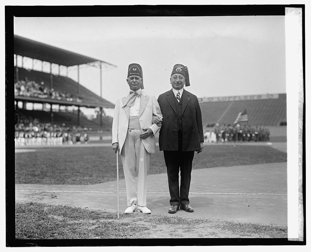 L.W. Estes & Henry Lansburgh at Shrine - Grotto game, 6/27/25