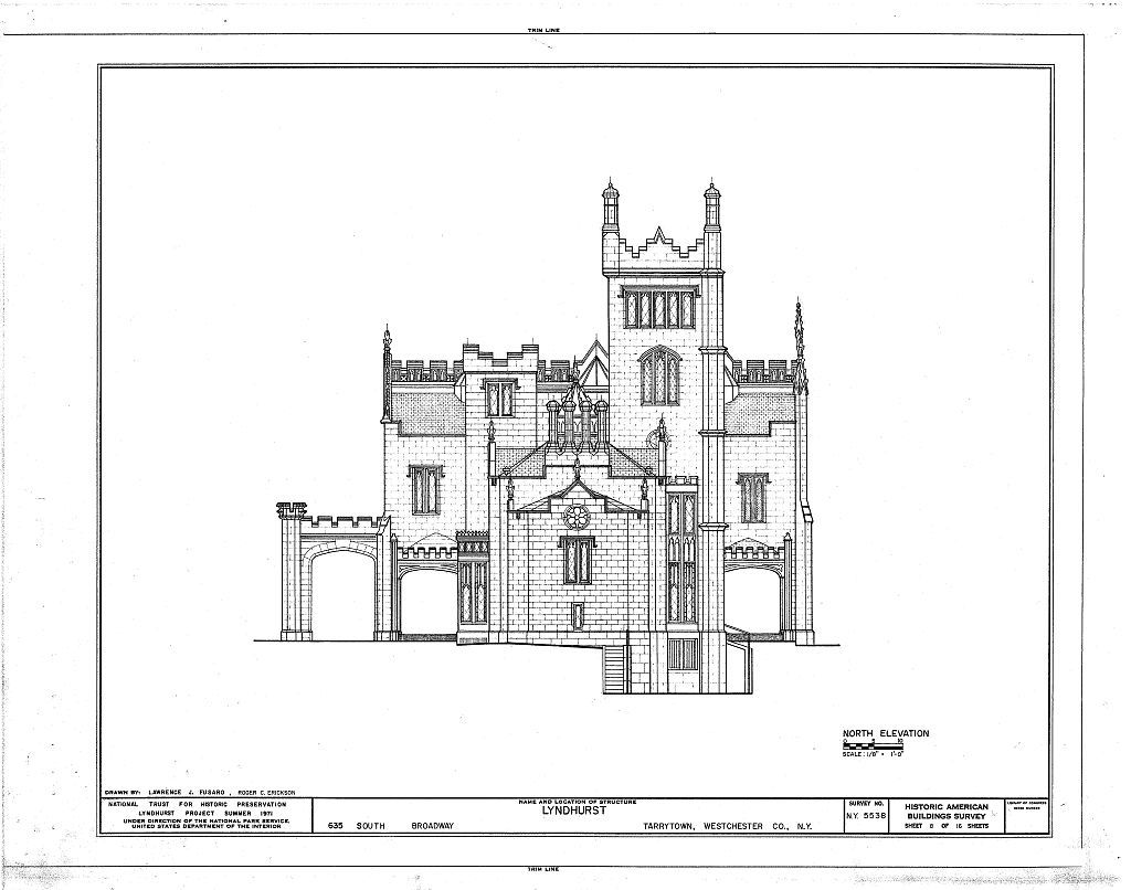 Lyndhurst, Main House, 635 South Broadway, Tarrytown, Westchester County, NY