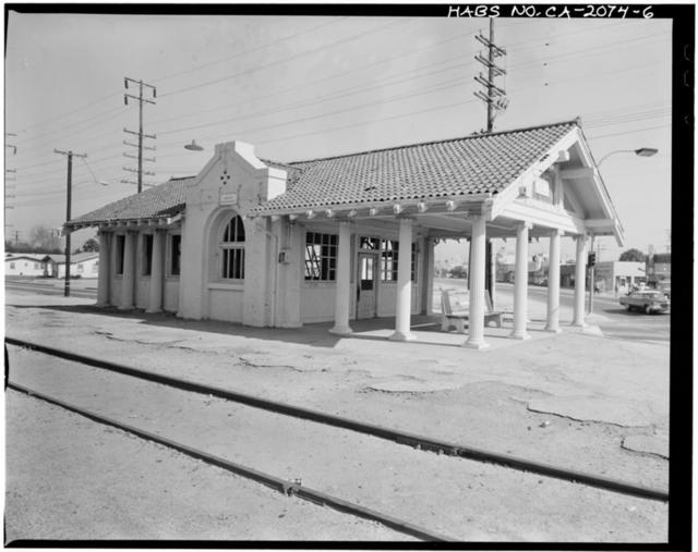 Lynwood Pacific Electric Railway Depot, 11453 Long Beach Boulevard, Lynwood, Los Angeles County, CA