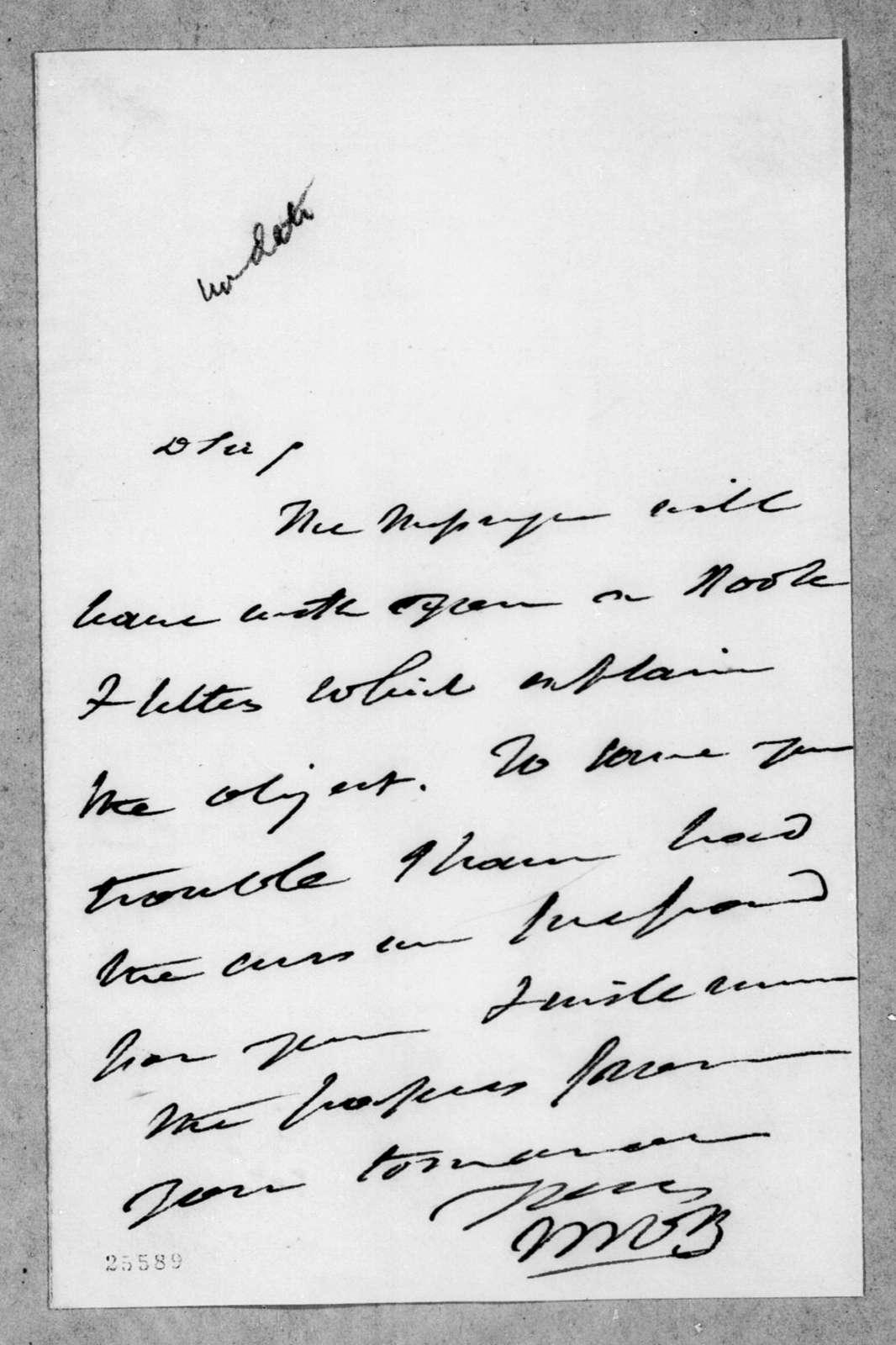 M. Van to Andrew Jackson