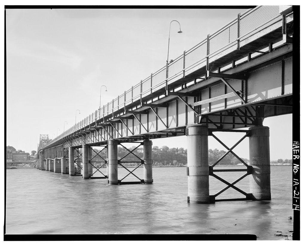 MacArthur Bridge, Spanning Mississippi River on Highway 34 between IA & IL, Burlington, Des Moines County, IA