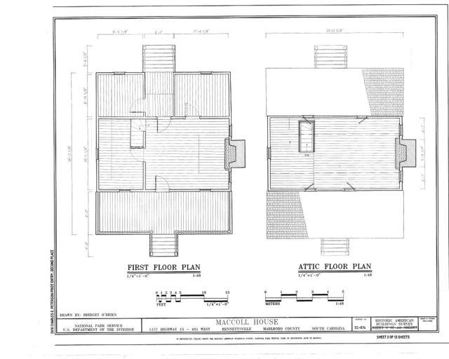 MacColl House, 1157 Highway 15/401 West, Bennettsville, Marlboro County, SC