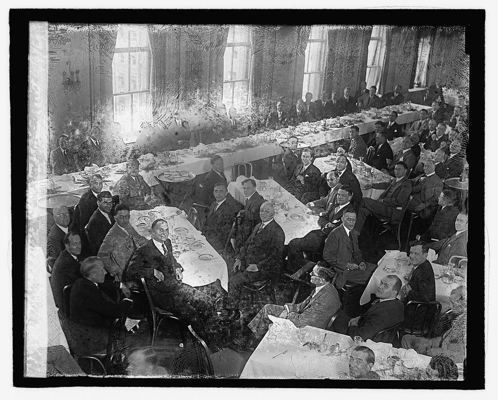 MacDonald at press banquet, 10/9/29