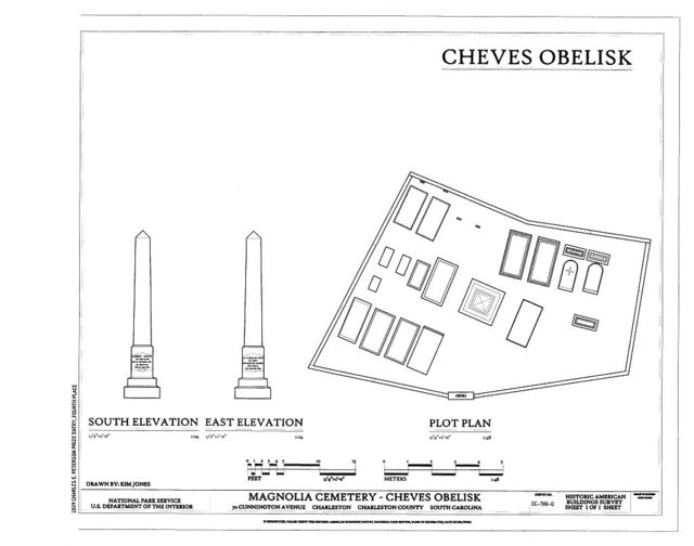 Magnolia Cemetery, Cheves Obelisk, 70 Cunnington Avenue, Charleston, Charleston County, SC