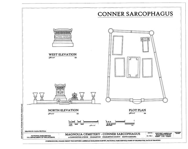Magnolia Cemetery, Conner Sarcophagus, 70 Cunnington Avenue, Charleston, Charleston County, SC