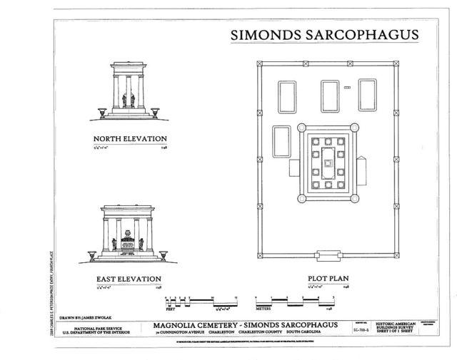 Magnolia Cemetery, Simonds Sarcophagus, 70 Cunnington Avenue, Charleston, Charleston County, SC