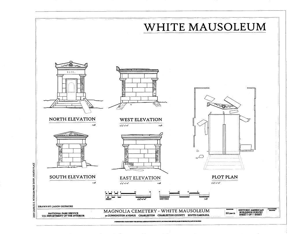 Magnolia Cemetery, White Mausoleum, 70 Cunnington Avenue, Charleston, Charleston County, SC