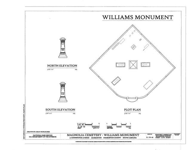Magnolia Cemetery, Williams Monument, 70 Cunnington Avenue, Charleston, Charleston County, SC