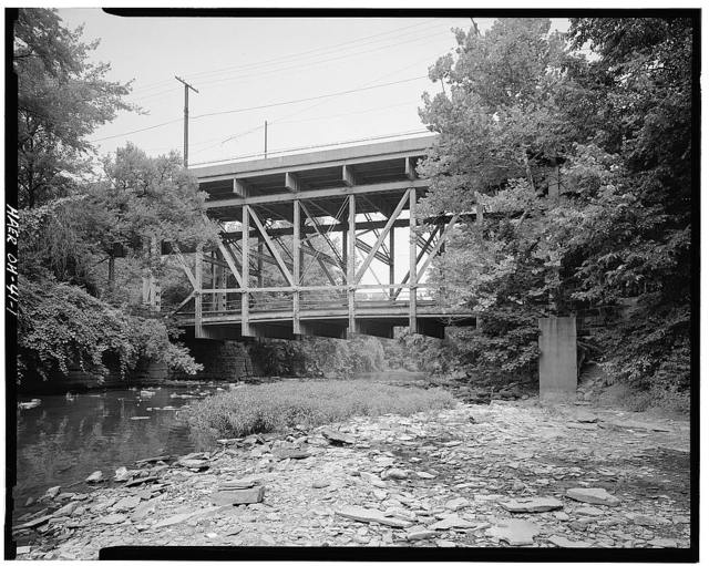 Mahoning Avenue Pratt Double-Deck Bridge, Spanning Mill Creek at Mahoning Avenue (C.R. 319), Youngstown, Mahoning County, OH