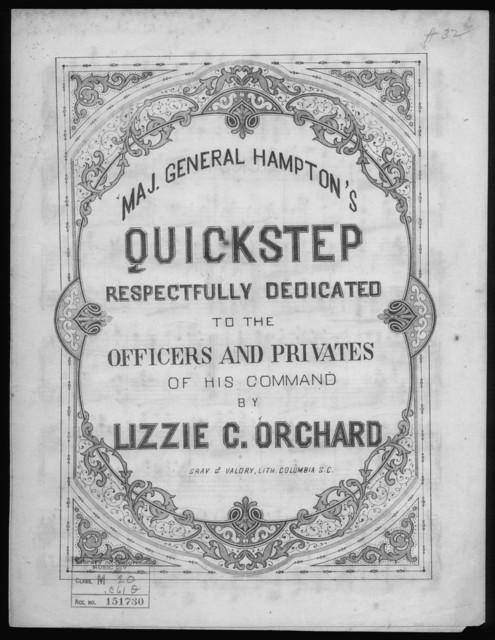 Maj. General Hampton's quickstep