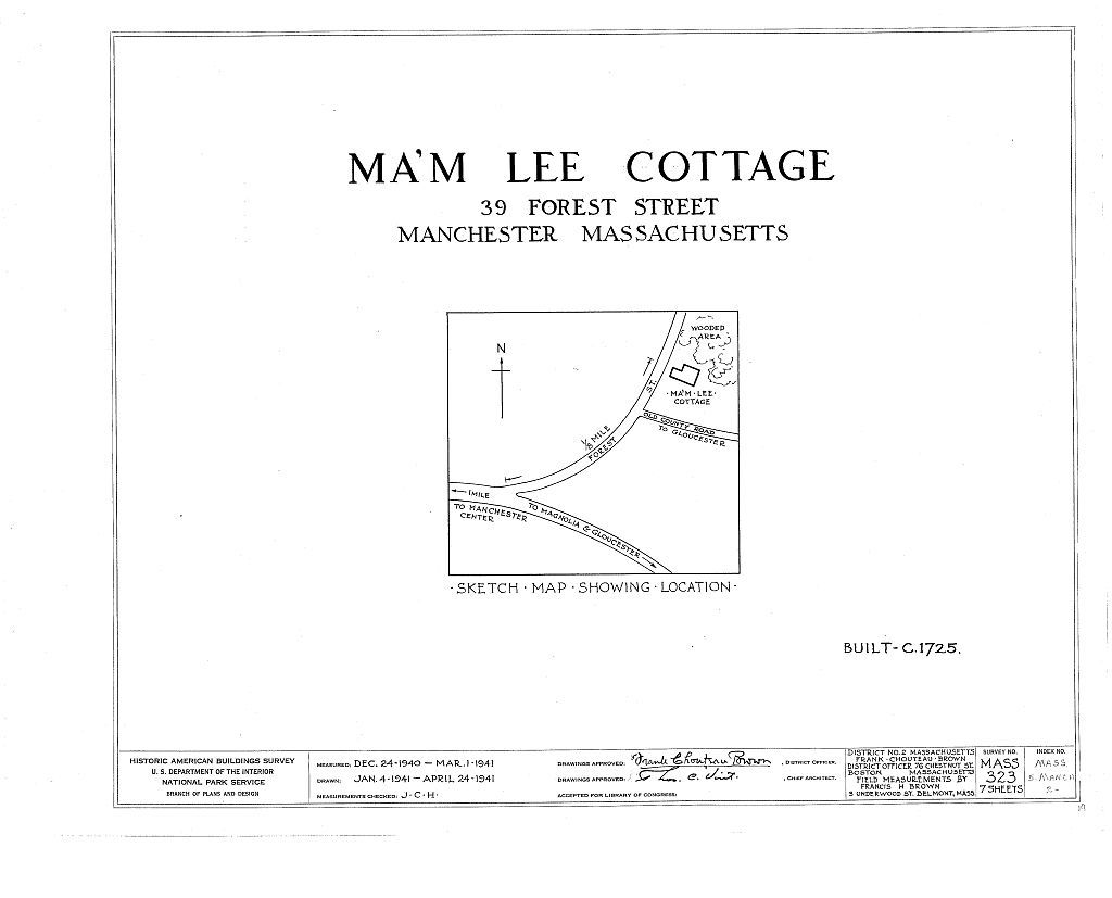 Ma'm Lee Cottage, 39 Forest Street, Manchester, Essex County, MA