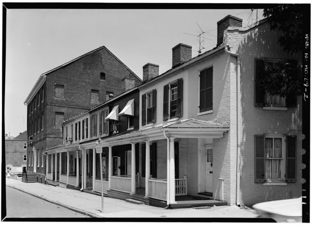 Mann's Hotel Row Houses, 150-160 Conduit Street, Annapolis, Anne Arundel County, MD