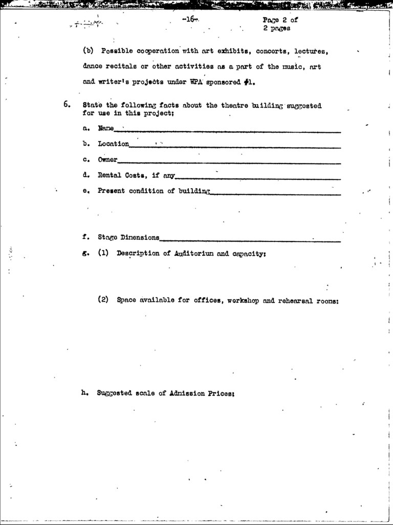 Manual for Federal Theatre Projects, October 1935