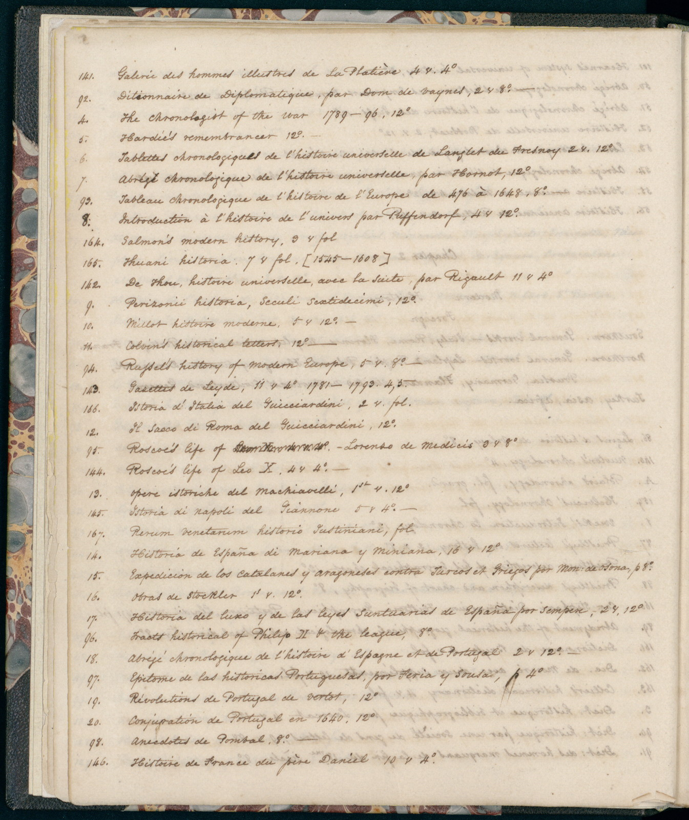 Manuscript and print version of the 1815 listing of Thomas Jefferson's Library