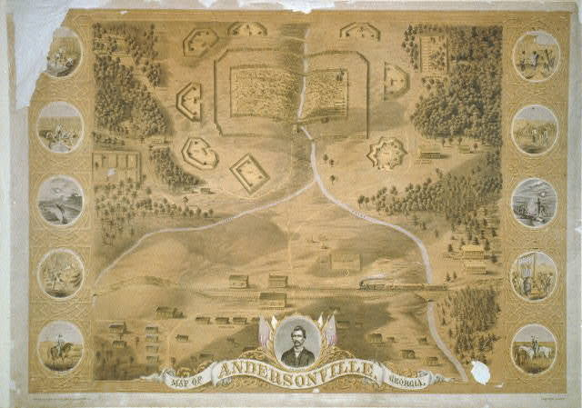 Map of Andersonville, Georgia