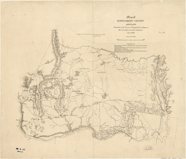 Map of Montgomery County, Maryland / - PICRYL Public Domain Image Montgomery County Md Map on