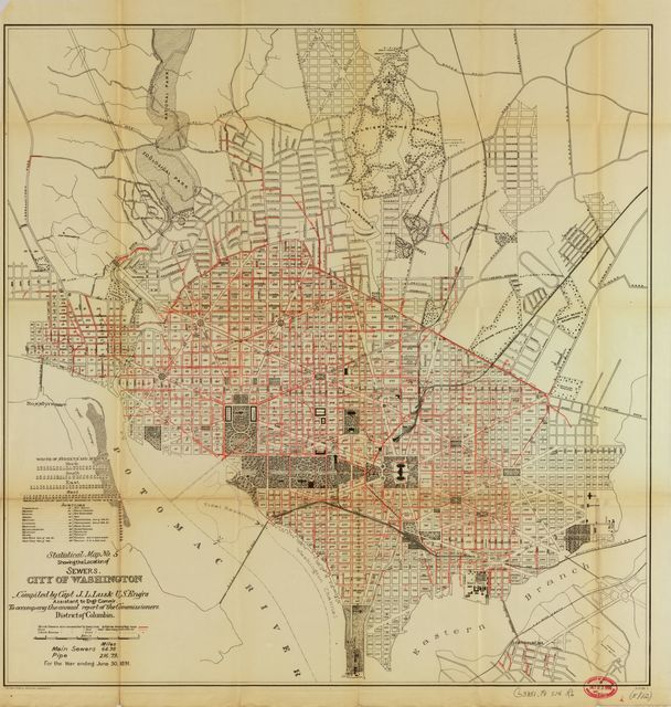 Maps accompanying the report of the operations of the Engineer Department of the District of Columbia : for the fiscal year ended June 30, 1891 : [Washington D.C.] /
